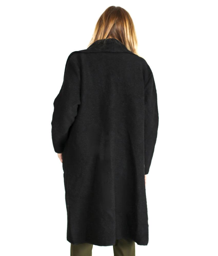 pas cher pour réduction 2103c 50714 Manteau long drapé en laine - femme