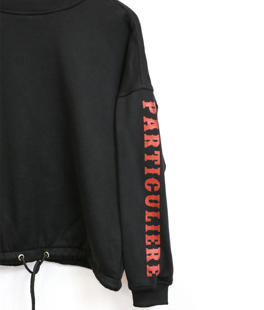 34e61bf956179 PARTENAIRE PARTICULIERE – sweat-shirt femme ample – noir – Pressing ...